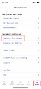payments dashboard